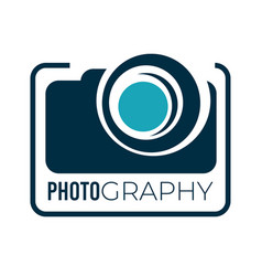photography service studio or company logotype vector image