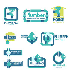 Plumber house service fixing leakage and pipe vector