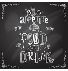 Restaurant chalkboard type vector image