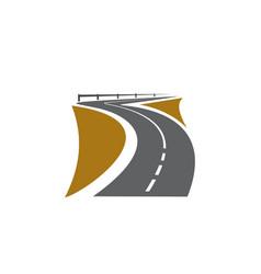 Road pathway highway icon path way roadside vector