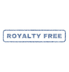 royalty free textile stamp vector image