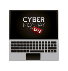 sale cyber monday vector image