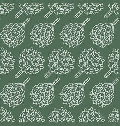 sauna steam bath room seamless pattern with line vector image