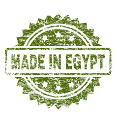 scratched textured made in egypt stamp seal vector image