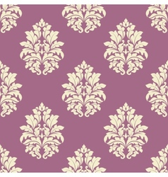Seamless lush blooming damask flowers pattern vector
