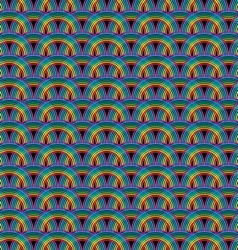 Seamless rainbow pattern tile vector image