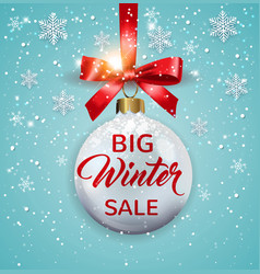 seasonal winter christmas sale vector image