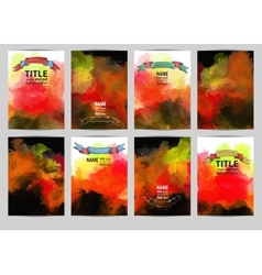 Set abstract painted background with vector image