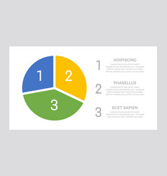 set blue and yellow green elements vector image