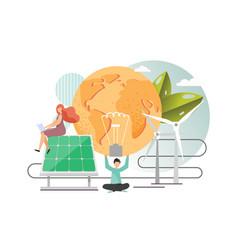 solar energy flat style design vector image