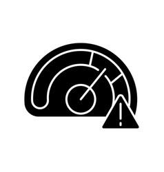 speed limit black glyph icon vector image