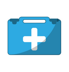 Suitcase first aid medical vector