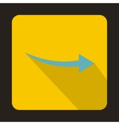 Thin blue arrow icon flat style vector image