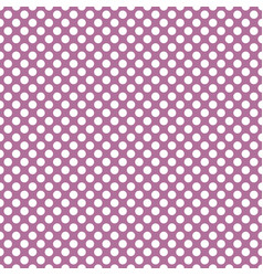 tile pattern with white polka dots on violet pink vector image