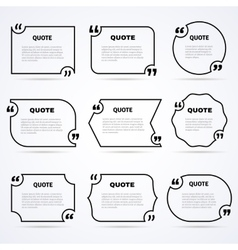 Timeless wisdom quotes outlined icons set vector