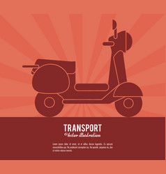transport scooter vehicle design vector image
