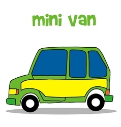 Transportation of mini van vector
