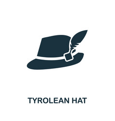 Tyrolean hat icon symbol creative sign from vector