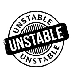 Unstable rubber stamp vector