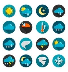 Weather Flat Icon Set vector
