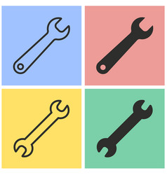 wrench icon set vector image