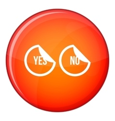Yes and no buttons icon flat style vector