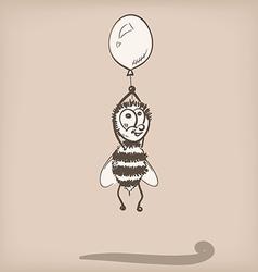 Bee doodle vector image