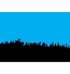 crowd hands at concert vector image vector image