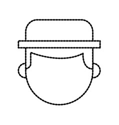 farmer hat character profession worker design vector image