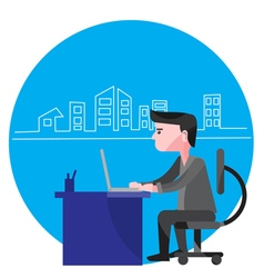 Man Working From Home vector image