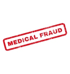 Medical Fraud Rubber Stamp vector image vector image