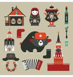 Russian icons vector image