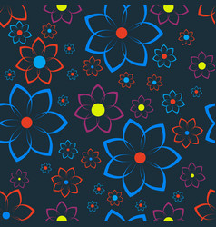seamless texture with floral ornament vector image vector image