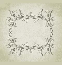 vintage frame on grunge style background vector image