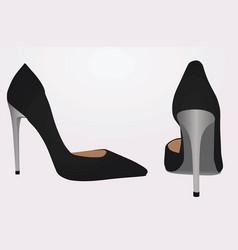 women black shoe vector image vector image