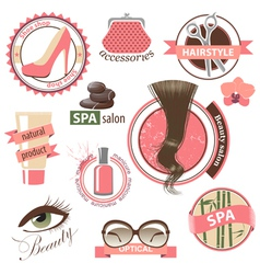 beauty emblems vector image vector image