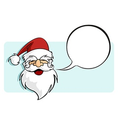 Christmas series Santa Claus with a blank comic vector image vector image
