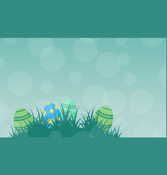 silhouette of easter egg on green backgrounds vector image