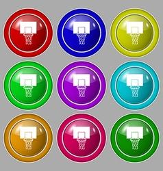Basketball backboard icon sign symbol on nine vector image vector image