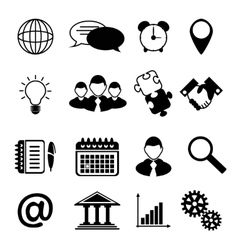 Business Icons Black vector image vector image