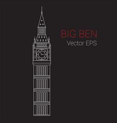 line icon of big ben tower london vector image vector image