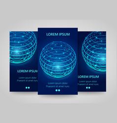 modern network vertical banners global sphere vector image vector image