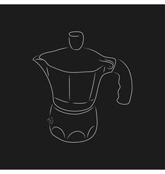 Outline of coffee maker geyser vector image vector image