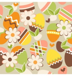seamless Easter pattern with eggs vector image