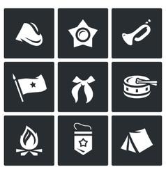 Set of Soviet organization Pioneer Icons vector image vector image