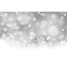 White Xmas Blurry Background vector image vector image