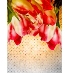 Card with abstract flowers EPS 10 vector image vector image