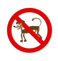 cartoon dog symbol vector image
