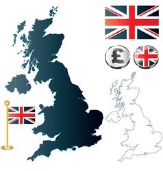 Great Britan map vector image