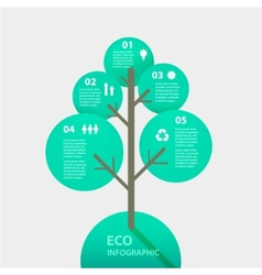 green tree sign infographic Template for vector image vector image